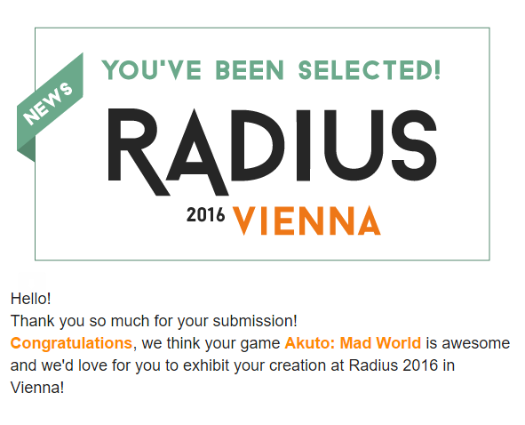 Akuto: Mad World Selected For Radius Festival